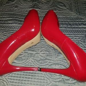 Shoes - Red peep-toe stiletto
